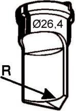 Eckenabrundstempel Nr. 4   - Radius 14 mm