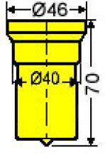 Vierkantstempel Nr. 53 - 25,0 mm