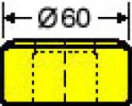 Langlochmatrize Nr. 39    -    16,3 x 40,3 mm