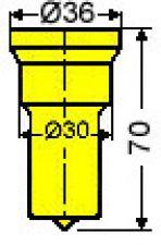 Langlochstempel Nr. 52   -      8,0 x 30,0 mm