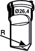 Eckenabrundstempel Nr. 3  - Radius 14 mm