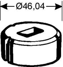 Rechteckmatrize Nr. 2   -   5,7 x 15,7 mm