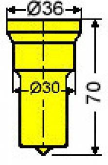 Vierkantstempel Nr. 52 - 11,0 mm