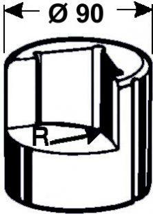 Eckenabrundmatrize Nr. 6   - Radius 25 mm