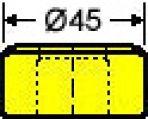 Langlochmatrize Nr. 38    -      6,8 x 25,3 mm