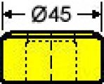 Langlochmatrize Nr. 38    -      7,3 x 25,3 mm